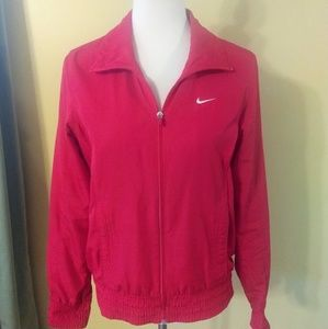 Nike windbreaker jacket sz medium red EUC